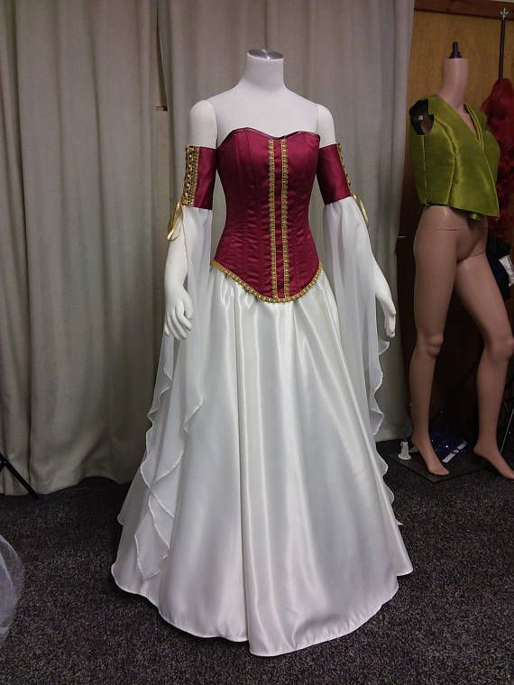 Medieval dress, corset dress, steel boned corset, elven dress ...
