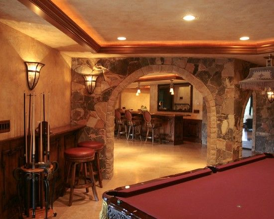 mediterranean basement design pictures remodel decor on incredible man cave basement decorating ideas id=24873