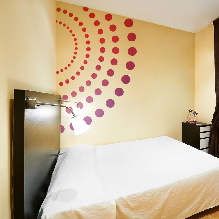 Giant Colorful Circles & Dots   dalidecals.com   Small Spaces ...