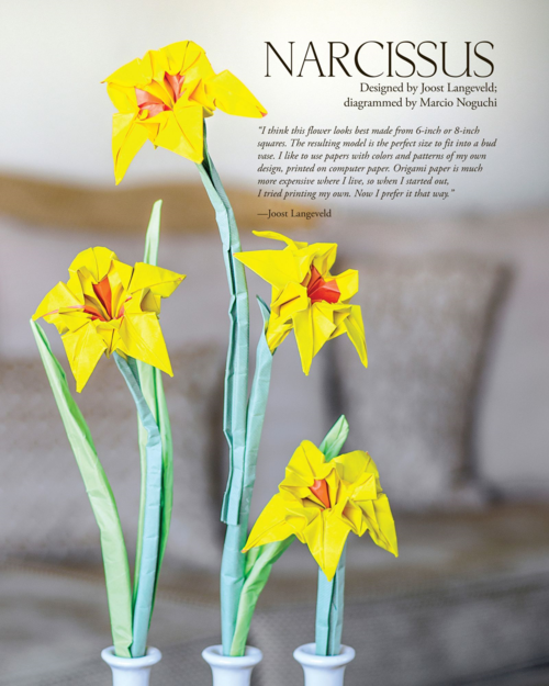 Origami Narcissus From The Book Origami Master Class Flowers Tips