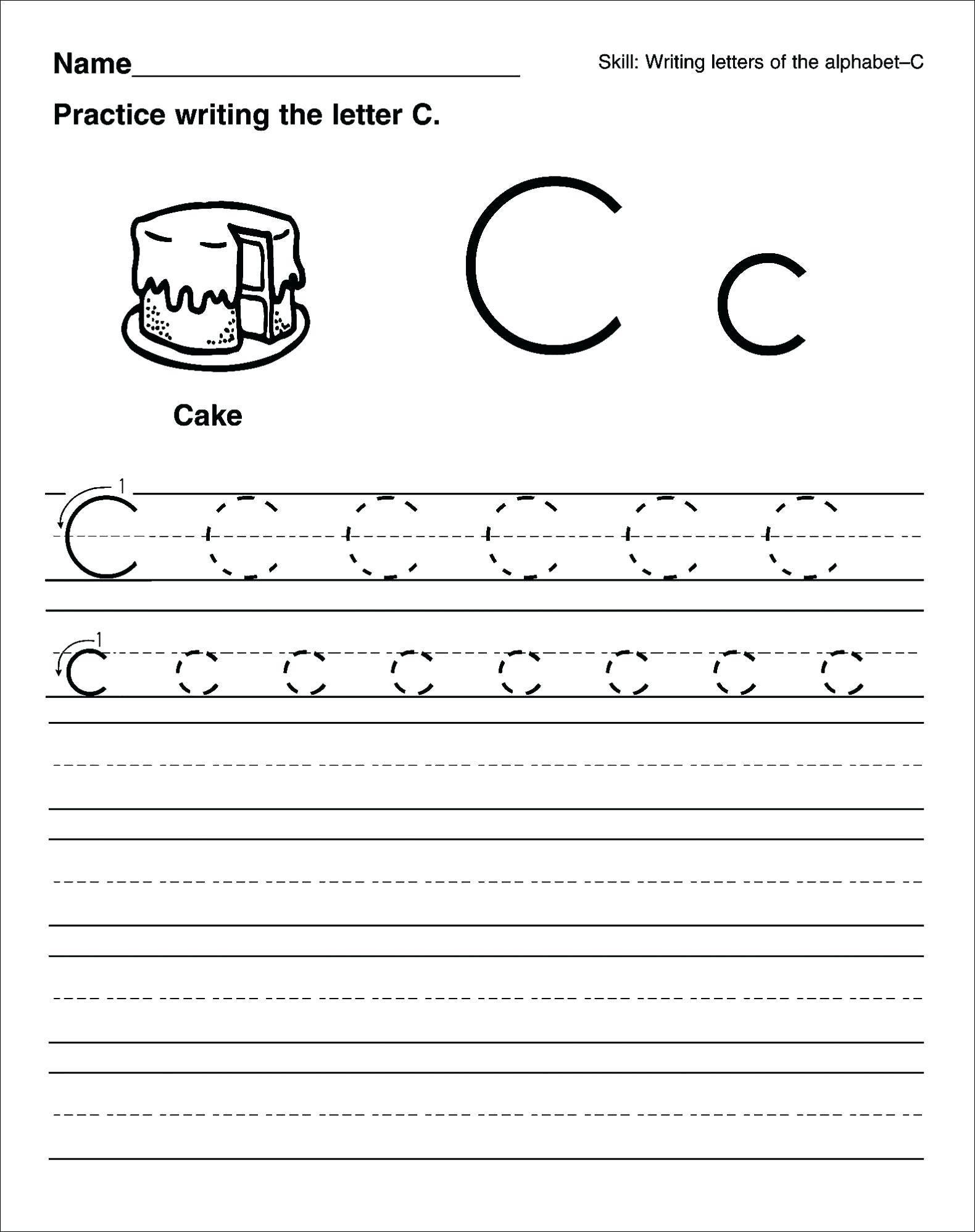 Letter Sheets For Preschool In