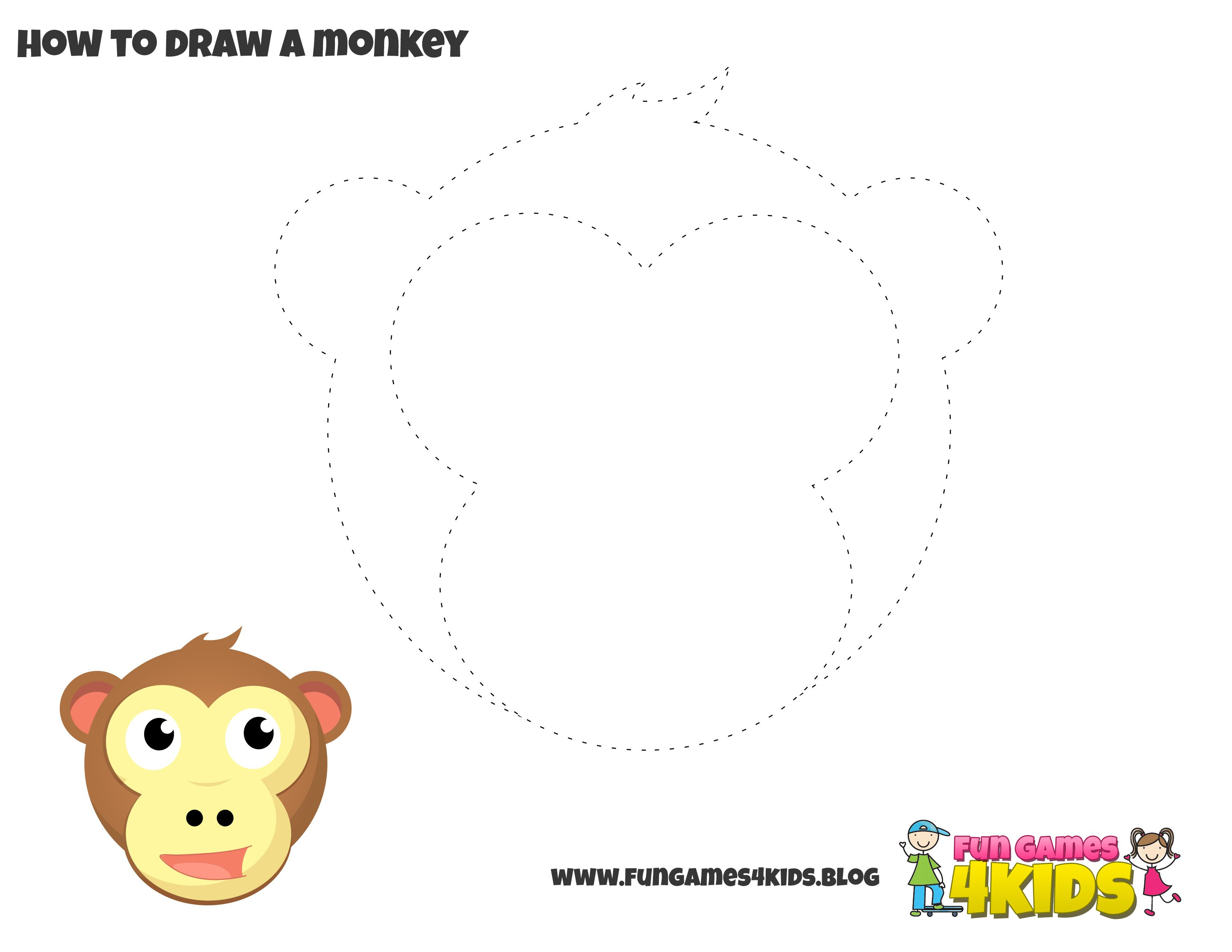 How To Draw Monkey From Fungames4kidsub