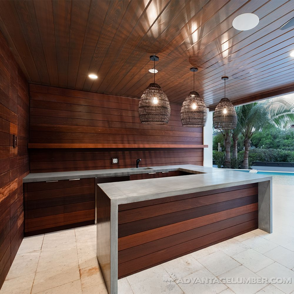 Check Out This Gorgeous Outdoor Kitchen Featuring Ipe Siding Call Us Today To Start Planning Your In 2020 Wood Siding Exterior Outdoor Kitchen Outdoor Living Space