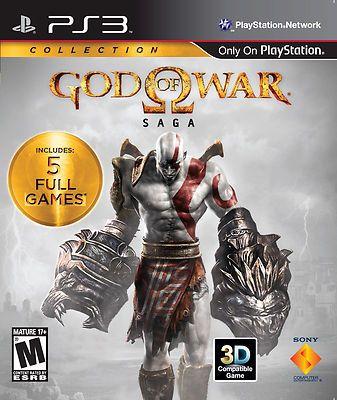 God of War Saga (PlayStation 3, 2012) 5 Full Games