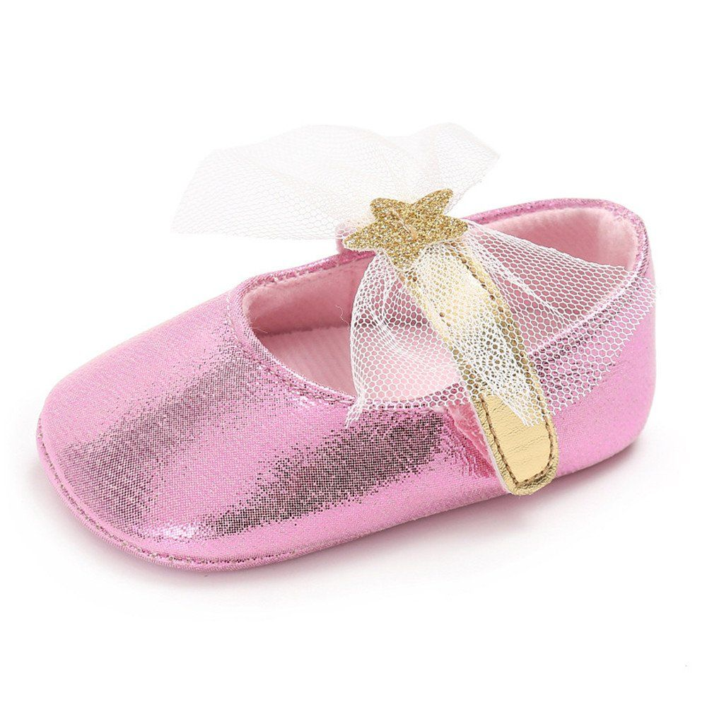 f05e1b17f40 Isbasic Baby Girls Knit Soft Sole Toddler Mary Jane Sneakers Casual Canvas  Shoes (0-