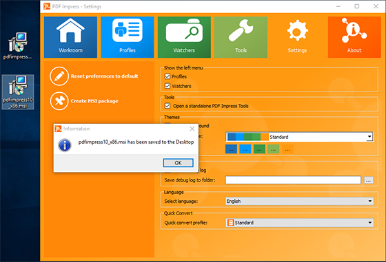 how to create a msi package for office 2010