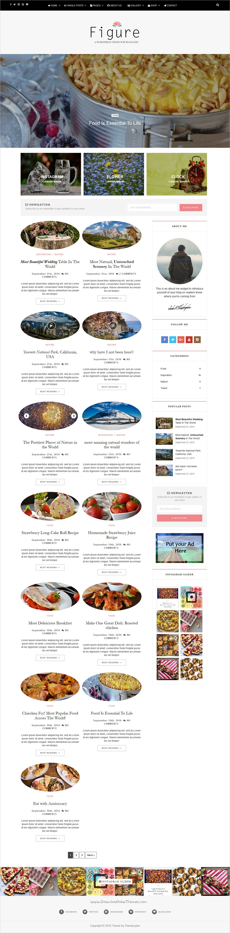 Figure is beautifully design responsive #WordPress theme for creative #food #blog and #magazines website with 50+ layout combination download now➩ https://themeforest.net/item/figure-clean-and-elegant-wordpress-blog-theme/18559034?ref=Datasata
