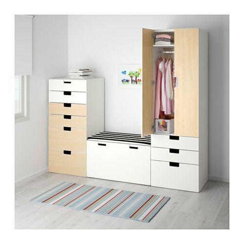 ikea stuva storage combination whitebirch cm deep enough to hold standard sized adult hangers - Schlafzimmerideen Des Mannes Ikea