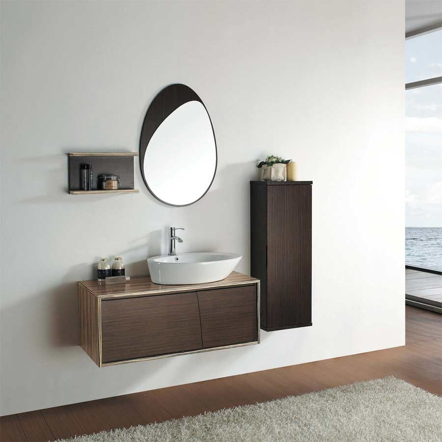"3925"" Utral Modern Bathroom Vanity Set  Green Teak & Iron Wood Mesmerizing Designer Bathroom Cabinet Inspiration Design"