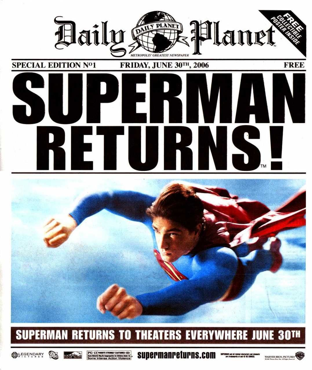 daily planet special edition: superman returns! #1 - friday, june