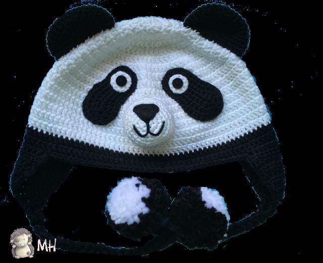 Gorro Panda a Crochet, Patrón Gratis | ganxet per nens i bebes ...