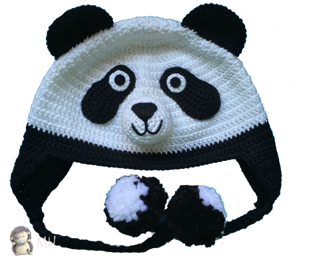 Amigurumi Oso Panda Patron : Gorro panda a crochet patrón gratis ganxet per nens i bebes