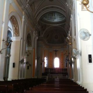 Interior of old church in Old San Juan, Puerto Rico. Holds a special place in my heart thanks to several relatives.