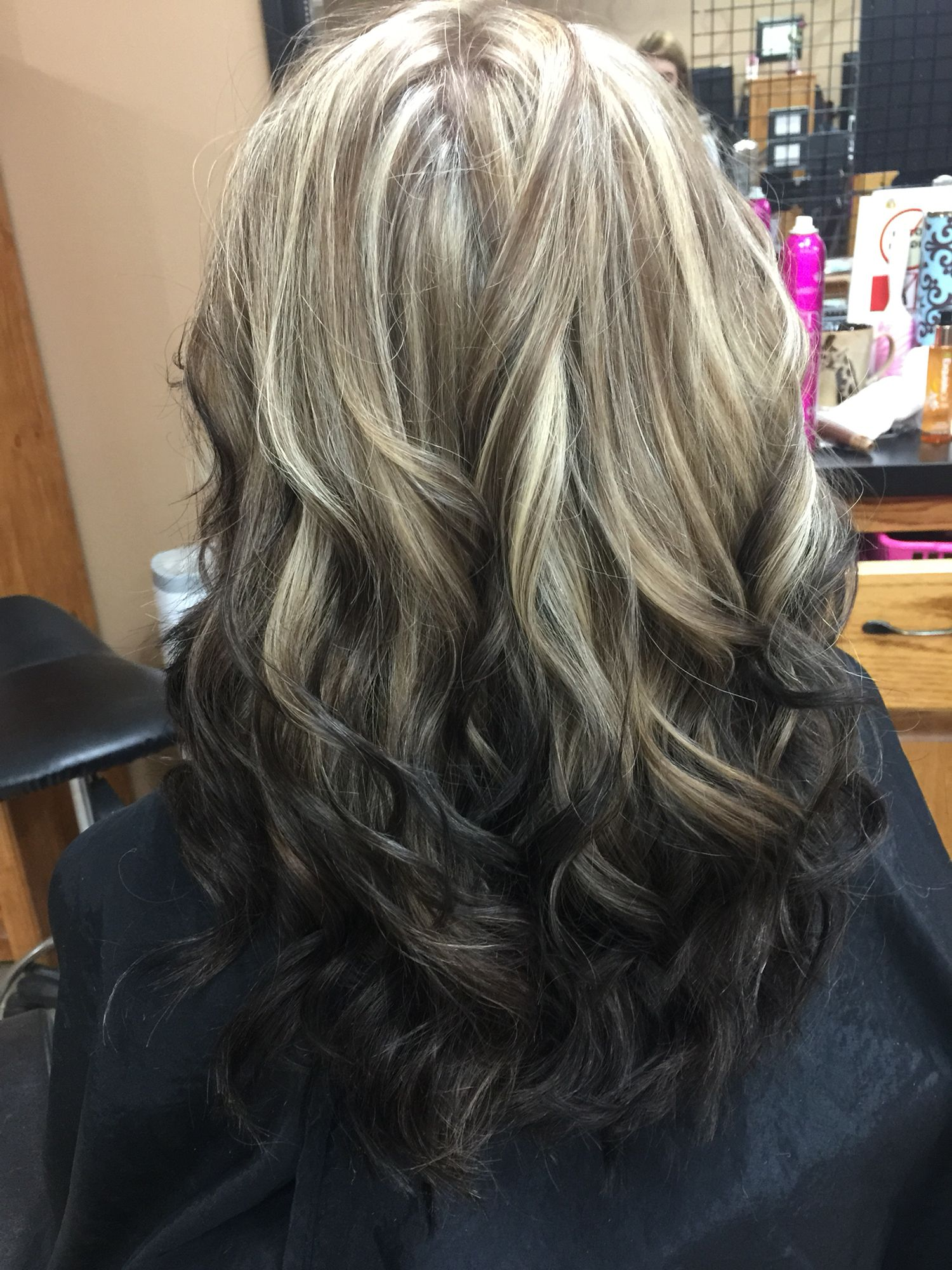 Gorgeous Reverse Blonde To Black Ombre Curled Hairstyles Grey Ombre Hair Reverse Ombre Hair Hair Styles
