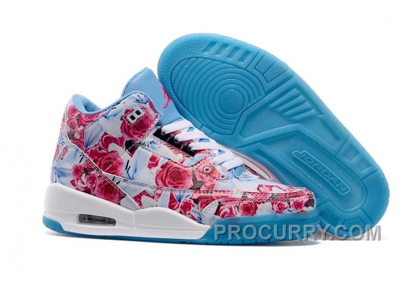 pink and blue jordans 2018