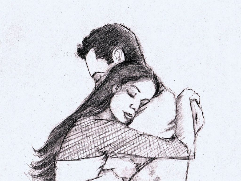 Romantic pencil sketches simple romantic pencil drawings