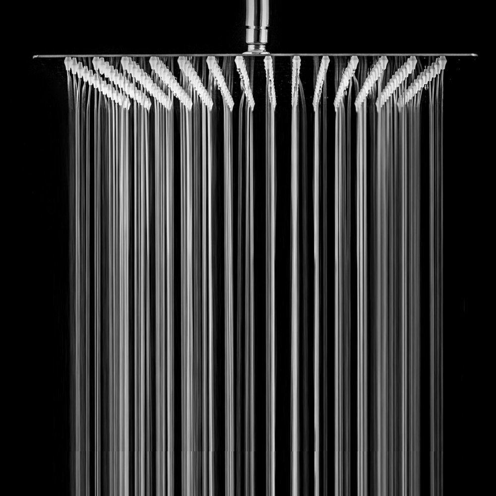 "16/"" Rain Shower Head Brushed Stainless Steel High Pressure Rain Top Sprayer Thin"