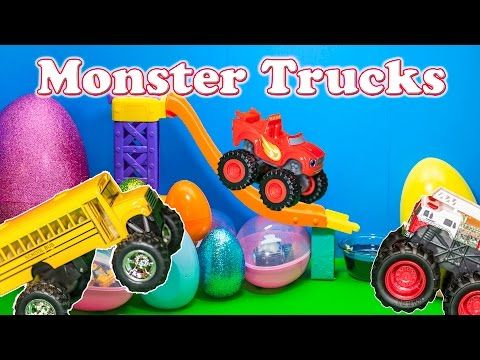 Monster Trucks Surprise Eggs Blaze And The Monster Machines Monster Truck Surprise Eggs Video Youtube Surprise Egg Videos Monster Trucks Kids Videos