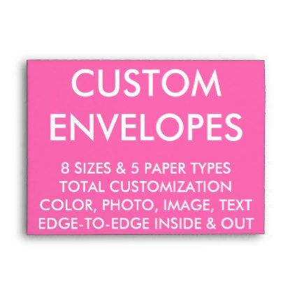 Custom Personalized A Envelope Blank X Card
