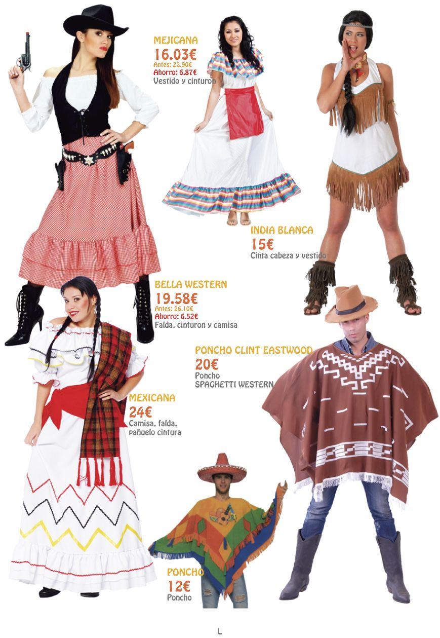 Vestidos mujeres del oeste