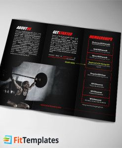 Crossfit Trifold Brochure Template From FittemplatesCom  Fitness