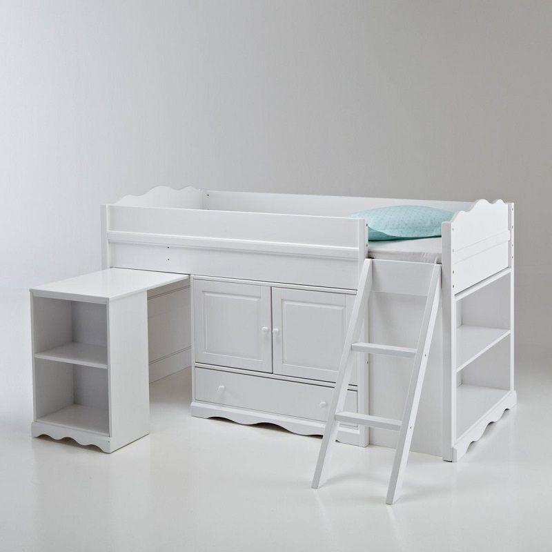 Lit combin pin massif authentic style blanc meubles et d co la redoute kids bedroom - Meubles authentic style la redoute ...