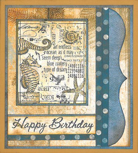 Stamp-it Australia: 4423F Endless Ocean, siset046 Happy Birthday  - Card by Lexie