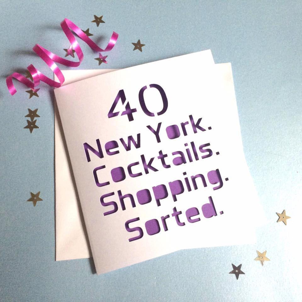 40th card 40th birthday card new york card 50th card birthday – New York Birthday Card