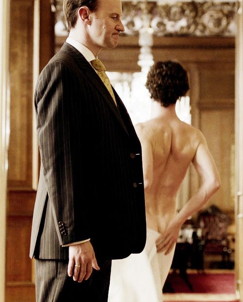 Benedict Cumberbatch's bottom. Yeah, I'm okay with this. Thank you, Mycroft!