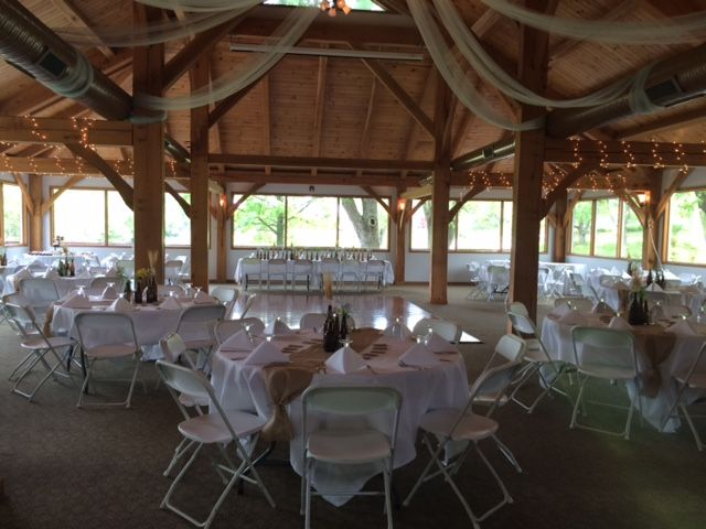 Summer 2015 reception set up in the Eagle's Nest!