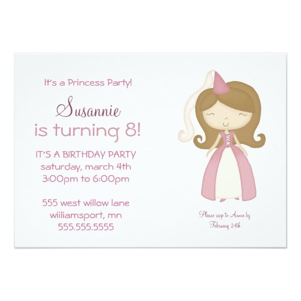 princess birthday party pink invitation in 2018 kids party