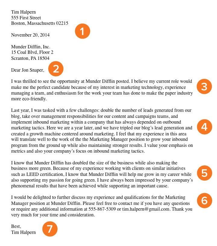 Como escribir una Carta de Presentacion-How to Write a Cover Letter ...