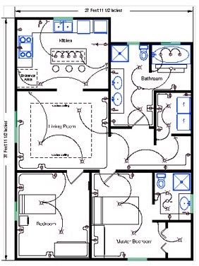 How To Draw House Wiring Diagram Kubota Bx2200 Starter Electrical Residential Plans Schematic Wire Pro Software Detailed Floor Cool Basic