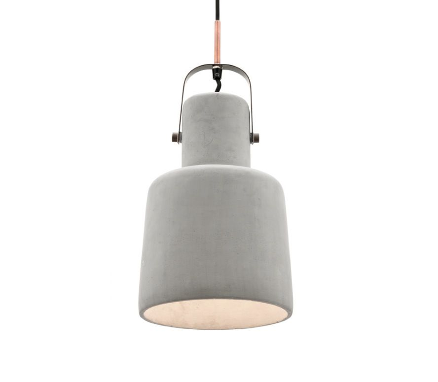 Albert Large Concrete Pendant Light with Antique Brass Metalware Mercator MG3321L, $149.00