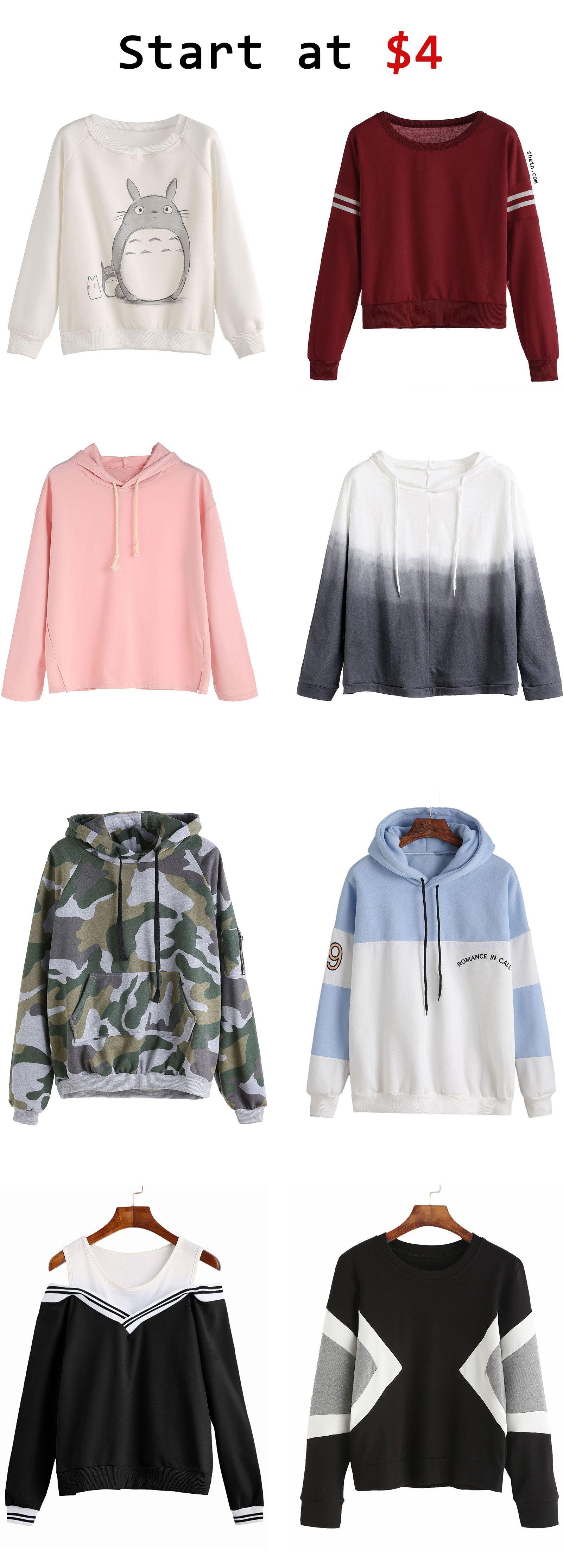 Sweatshirts start at $4
