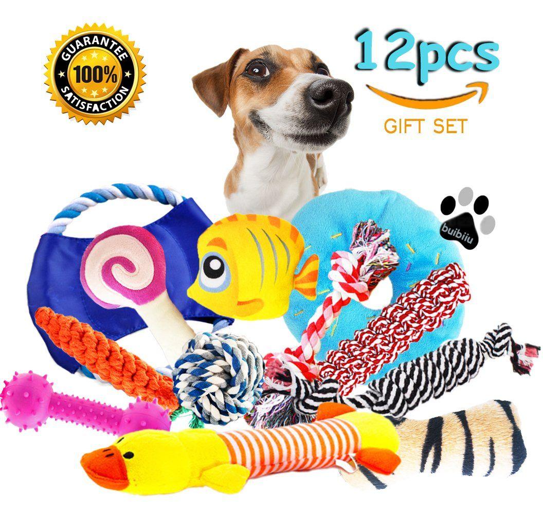 Buibiiu Dog Toys Dog Chew Toys Puppy Teething Toys Puppy Chew