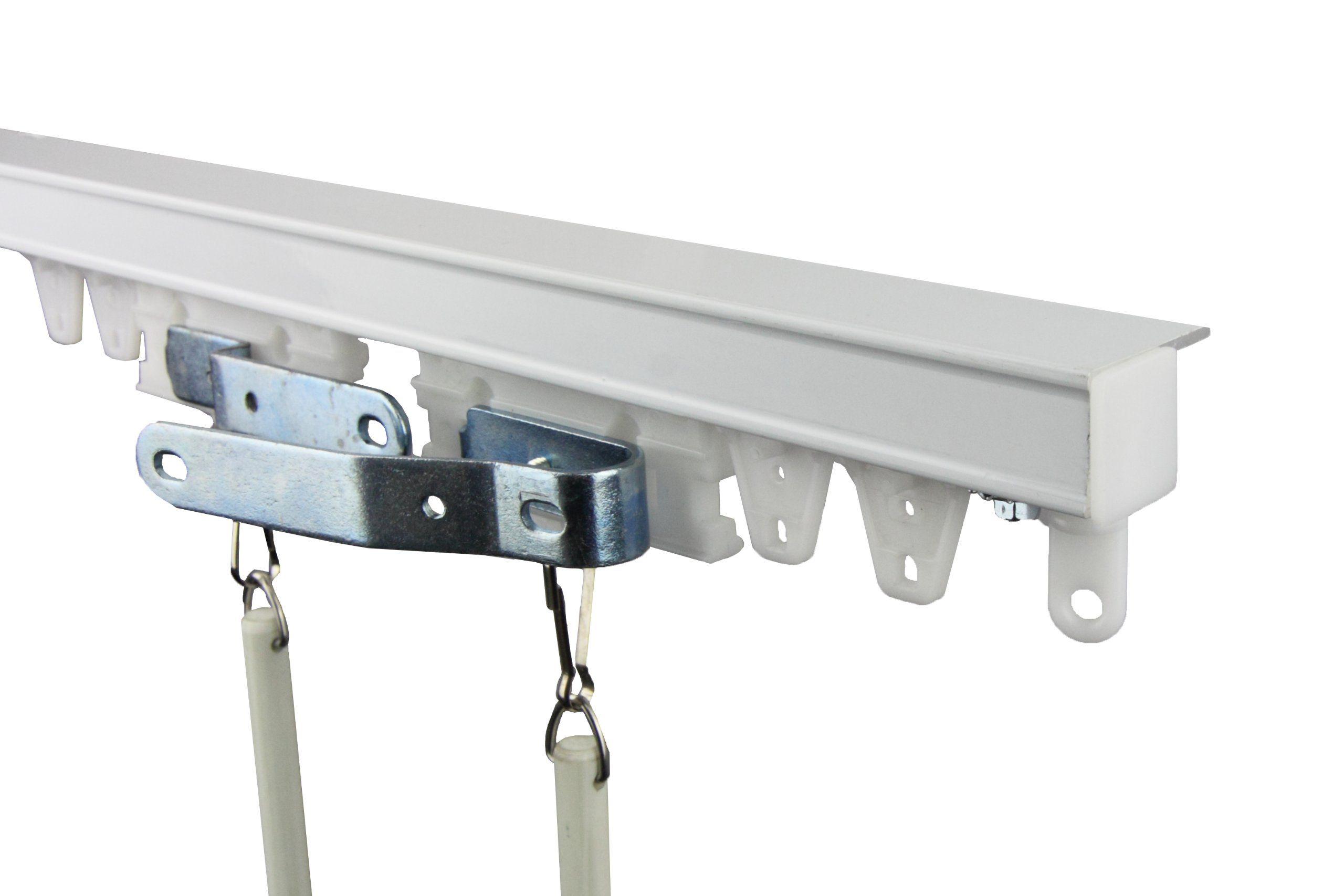Amazon new white ceiling mount ft curtain track kit
