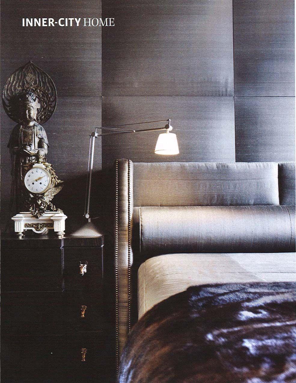 Modern Bedroom Wall Masculine Contemporary Bedroom Monochromatic Interior Design In