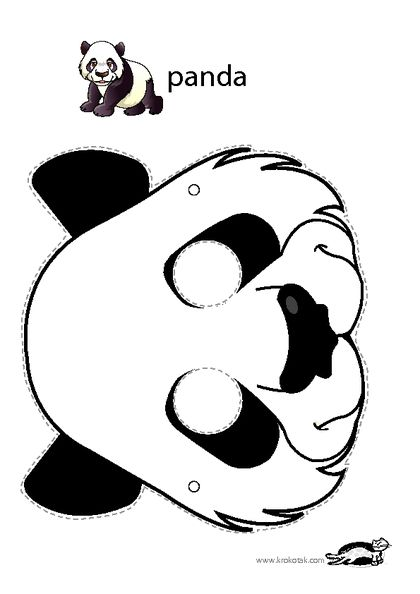 Panda mask activit s manuelles maternelles masque renard masque a imprimer et mod le de masque - Masque de renard a imprimer ...