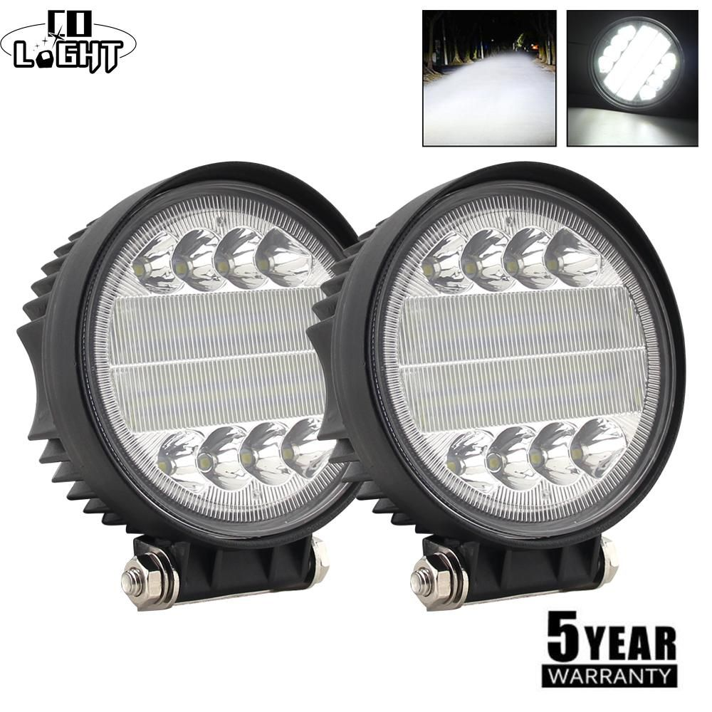 126w 12v 24v 42 Led Work Lamp Floodlight Spotlight Car Motorcycle Truck Boat Use Light Bar Car Led Lights Bar Lighting Led Lights For Trucks