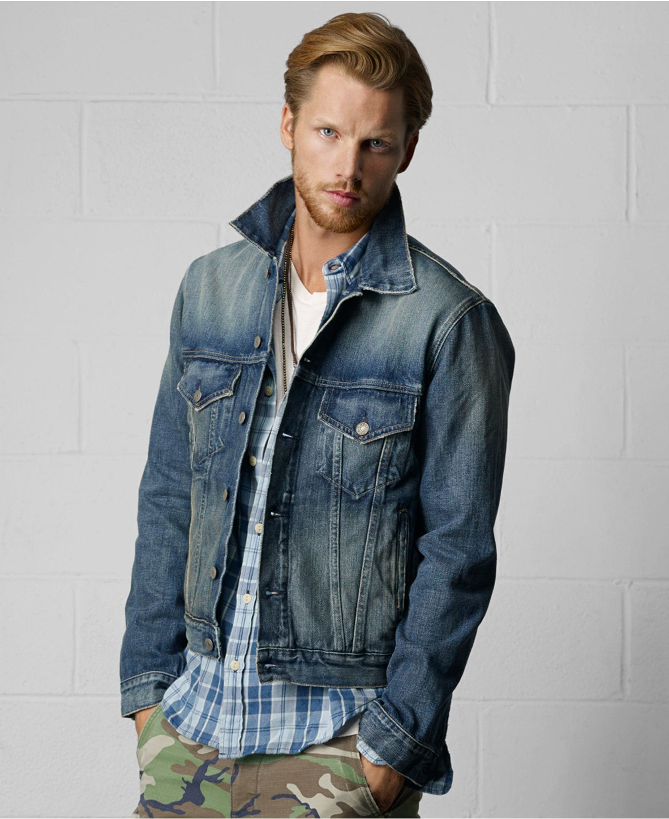 Denim & Supply Ralph Lauren Jacket, Denim Jacket - Coats & Jackets - Men -  Macy's
