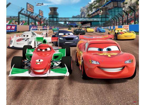 Fototapete Kinderzimmer Disney Pixar Cars Inkl. Tapetenkleister Die Riesige  Fototapete Disney Pixar Cars Ist Für Alle Rennfahrer Und Formel 1 Piloten  Eine ...