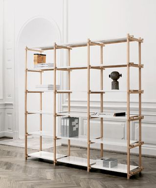 woody high by hay studio reasonably priced shelves with visible rh pinterest com