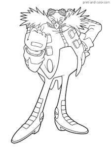 Sonic The Hedgehog Coloring Pages Print And Color Com Coloring Pages Super Coloring Pages Doctor Eggman
