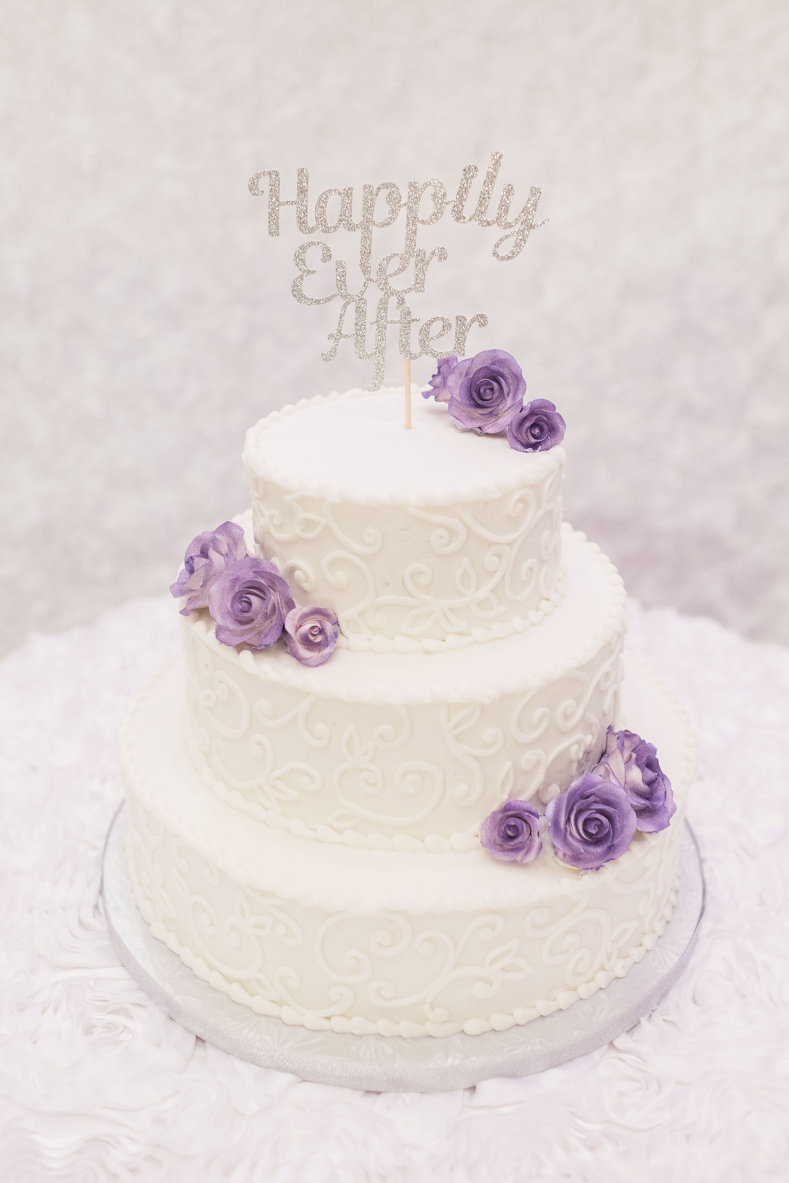 Almeera Justin Purple Wedding Cakes Floral Wedding Cakes