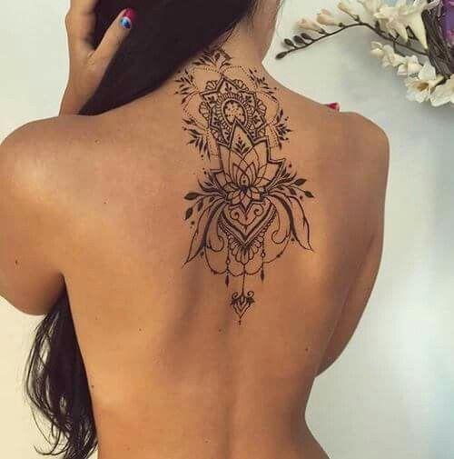 Tatuagem Flor De Lotus Mandala Tatuagem No Pescoco Masculino Tatuagem Inspiradora Tatuagem