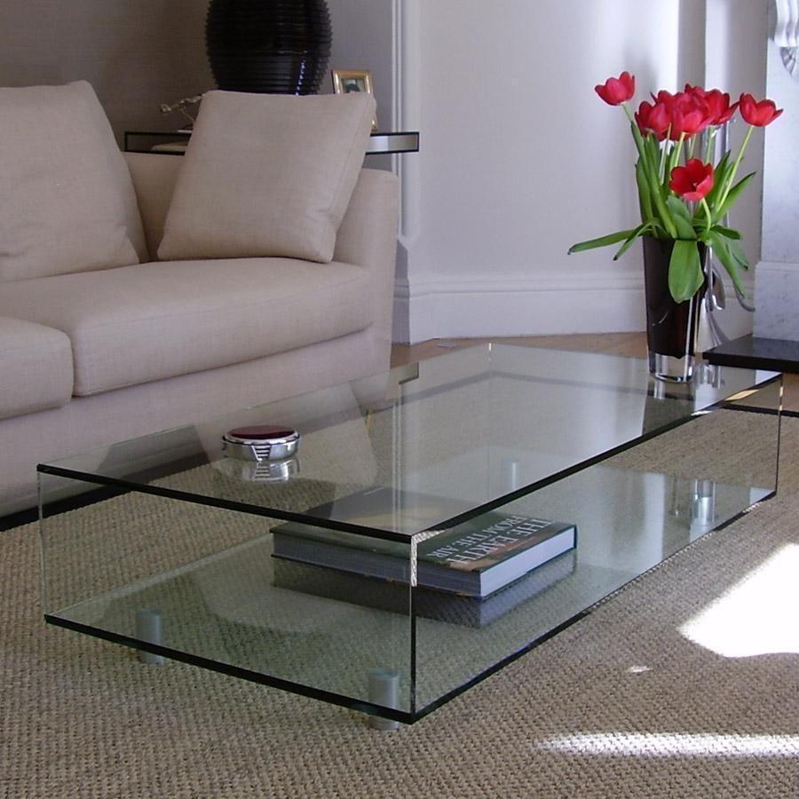 Mesa ratona de vidrio megaglass living pinterest for Modelos de mesas de vidrio