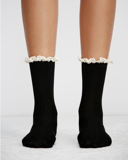 Bryant Heather Ankle Socks in Black | ROOLEE
