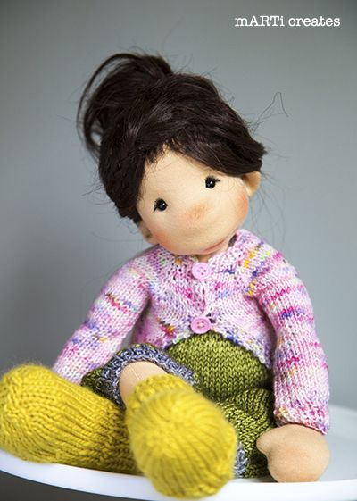 Julia - a 17''/43cm Art Cloth Doll by mARTi creates