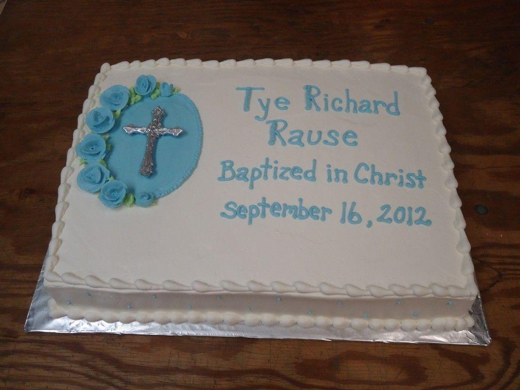 Catholic Boy Baptism Buttercream Cake Ideas